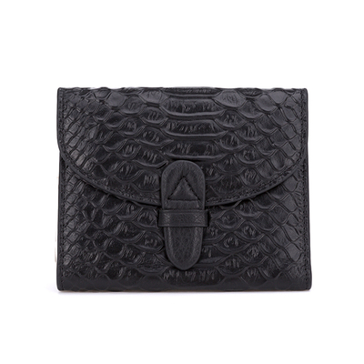 Crocodile Genuine Leather Short Wallet For Women