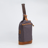 Washed Canvas Leather Sling Bag